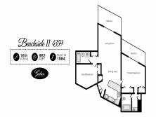 Gibson Beach Rentals - Beachside II 4359 vacation rental floorplan in Sandestin