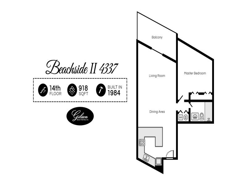 Gibson Beach Rentals - Beachside II 4337 vacation rental floorplan in Sandestin