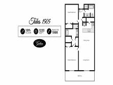 Gibson Beach Rentals - Tides 1505 vacation condo floorplan in Miramar Beach