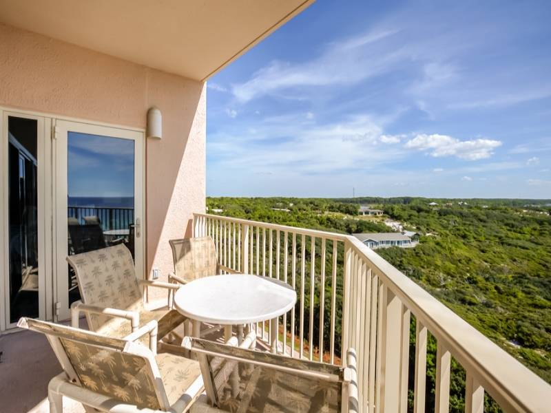 Beach Manor 806 Balcony Gibson Beach Rentals -