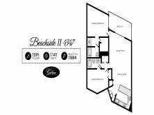 Gibson Beach Rentals - Beachside II 4347 vacation rental floorplan in Sandestin