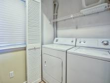 Convenient in-house laundry area