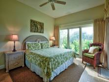 Soothing colors set the scene in the Master Bedroom