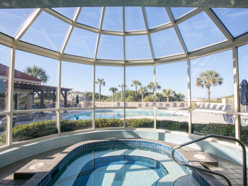 Beach Manor guests have access to the beautiful indoor hot tub
