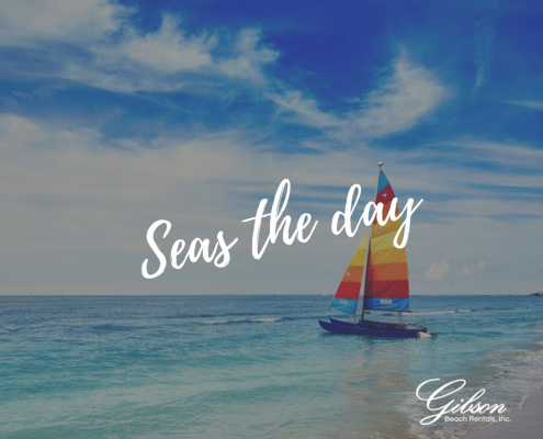Seas the Day + Beach Quote