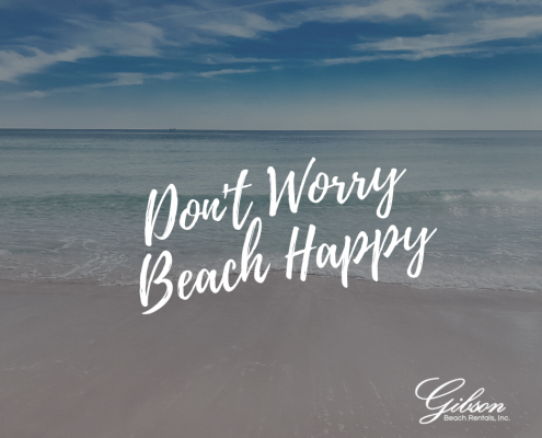 Don't worry, beach happy + beach quote