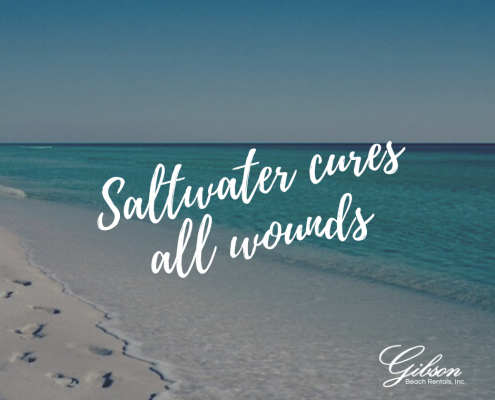 Saltwater Cures all wounds + Beach Quote